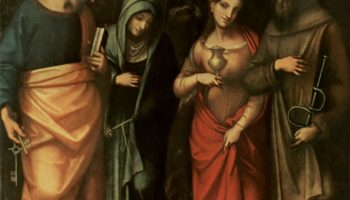 Четверо святых  св. Петр, св. Марта, св. Мария Магдалина и св. Леонгард