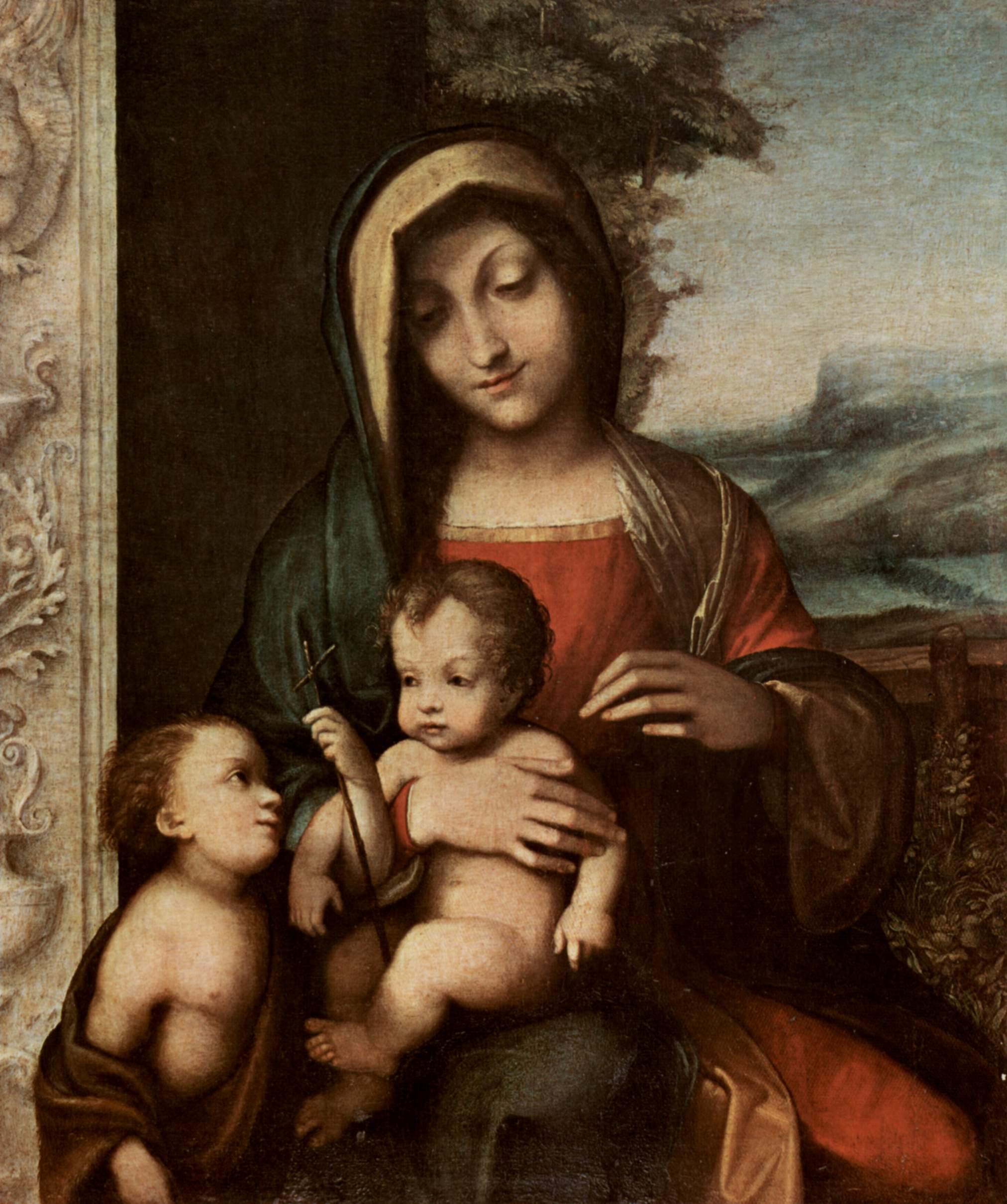 Мадонна с Иоанном Крестителем, Корреджо
