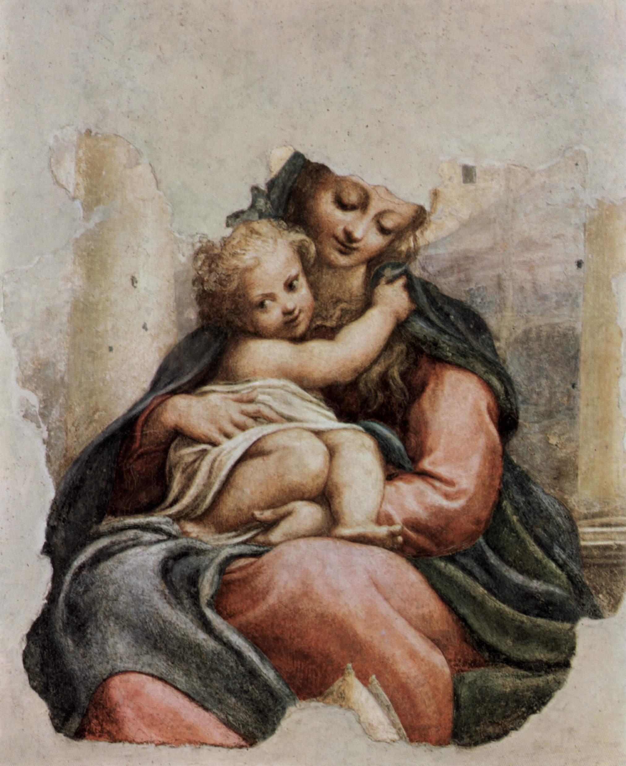 Мадонна делла Скала, фрагмент, Корреджо