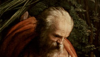 Отдых на пути в Египет, со св. Франциском. Деталь  св. Иосиф