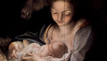 Поклонение пастухов (Ночь). Деталь  Мария с младенцем