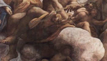 Фрески в церкви Сан Джованни Евангелиста в Парме, роспись купола, видение св. Иоанна на Патмосе