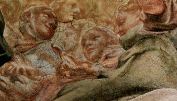 Роспись купола в кафедральном соборе в Парме  Благовещение. Деталь  святые и ангелы