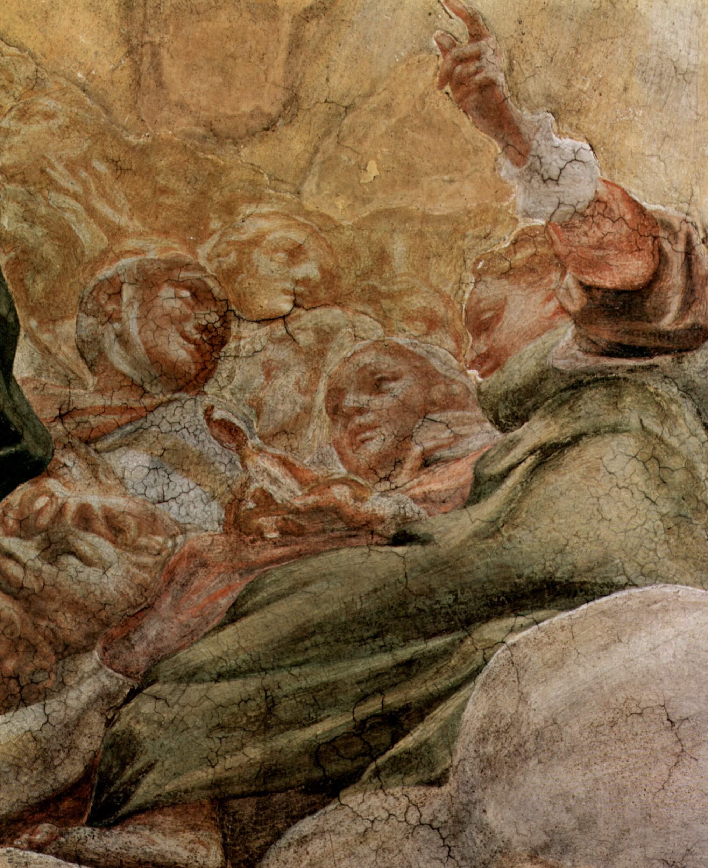 Роспись купола в кафедральном соборе в Парме  Благовещение. Деталь  святые и ангелы, Корреджо