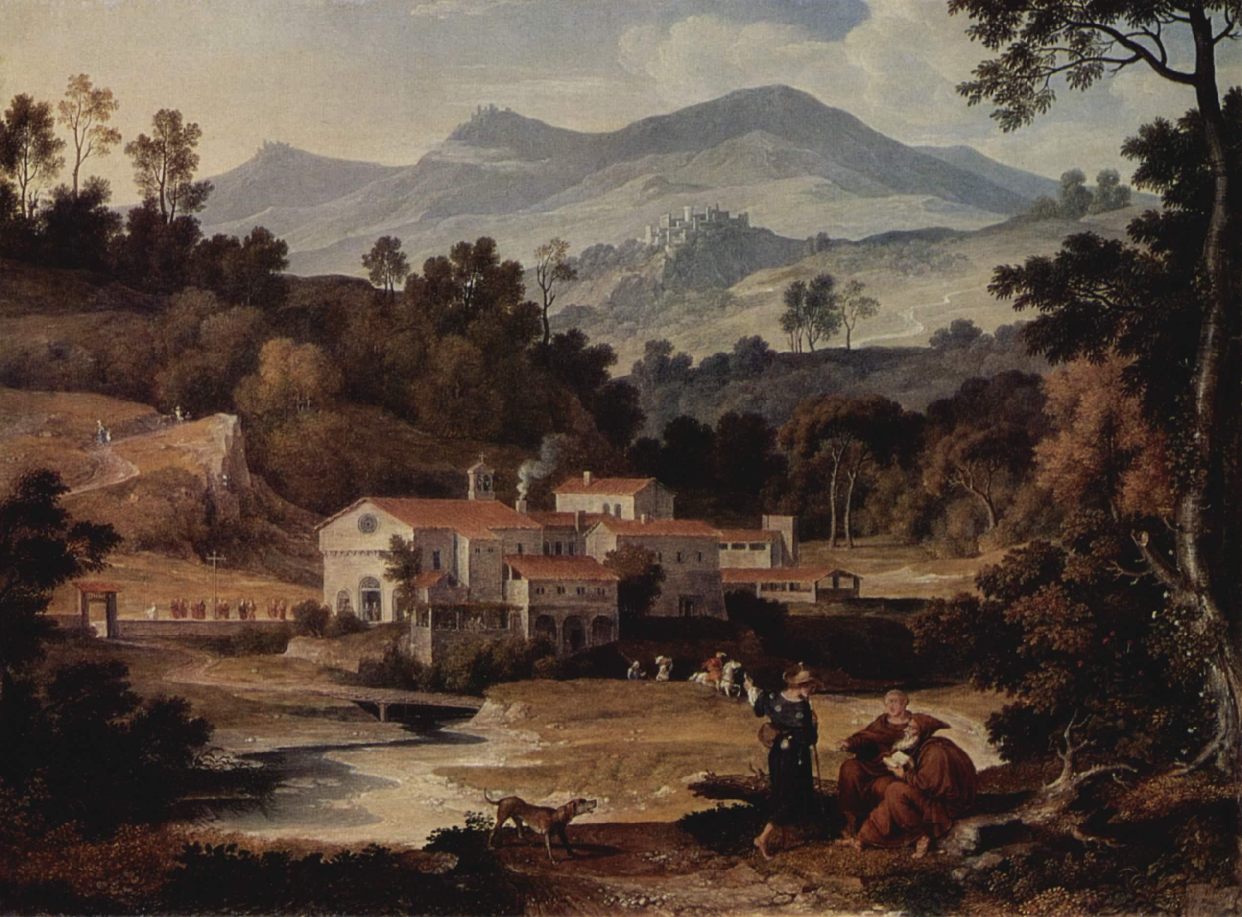 Монастырь Сан Франческо в Сабинских горах близ Рима, Кох Йозеф Антон