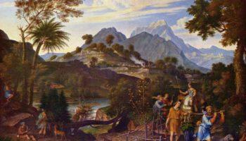 Пейзаж с лазутчиками, возвращающимися из земли обетованной
