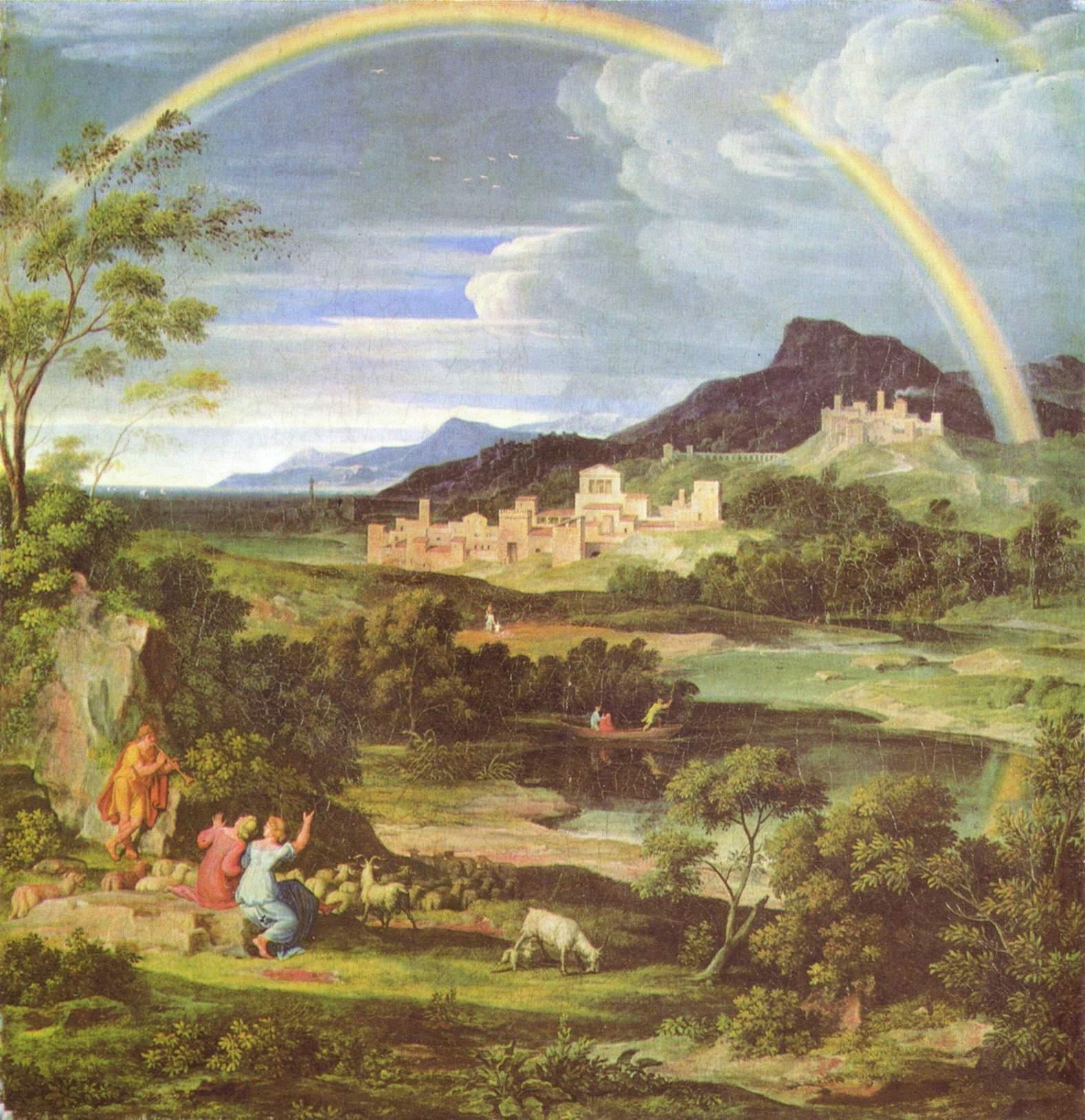 Героический пейзаж с радугой, Кох Йозеф Антон