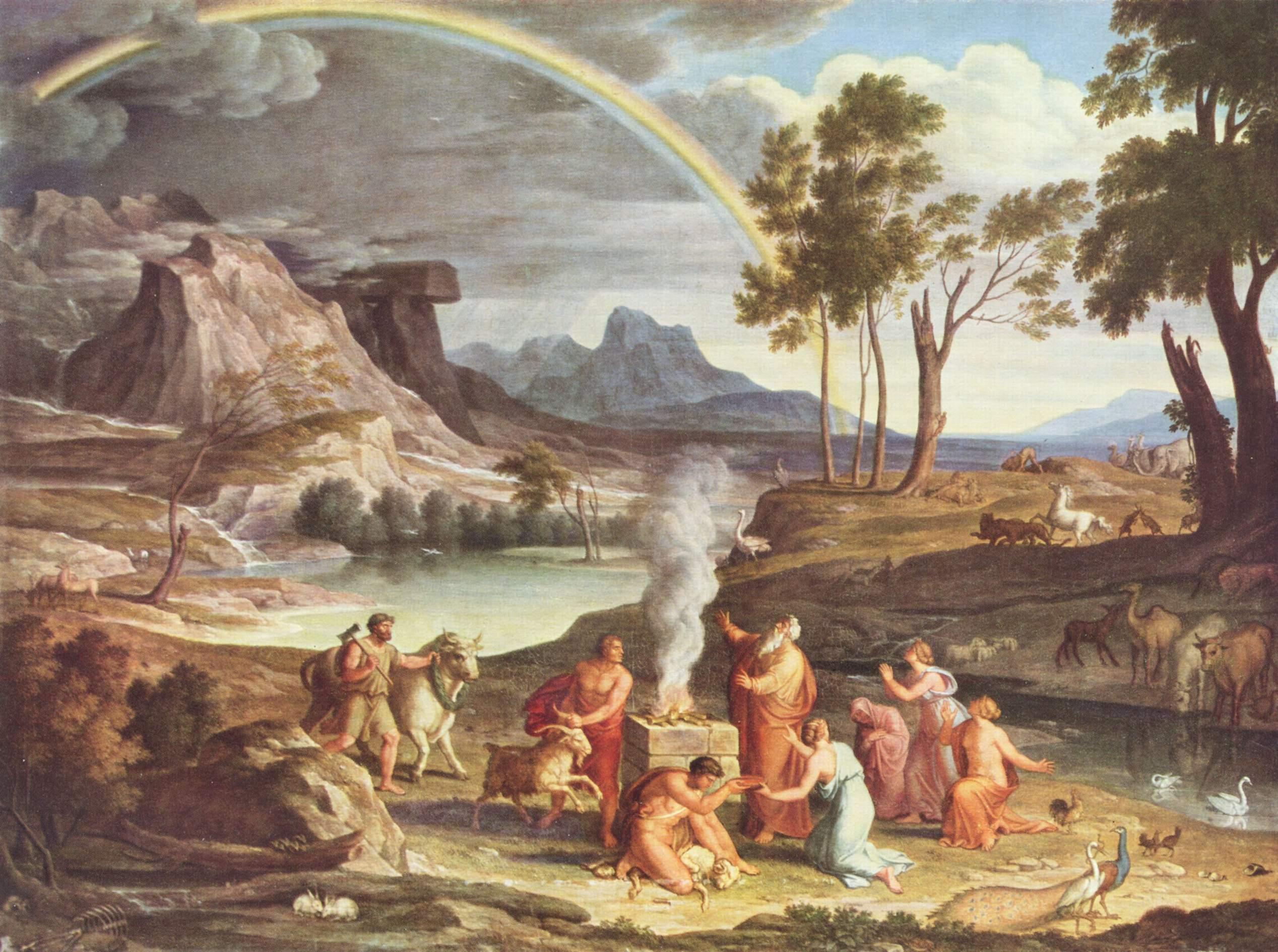 Пейзаж с жертвоприношением Ноя, Кох Йозеф Антон