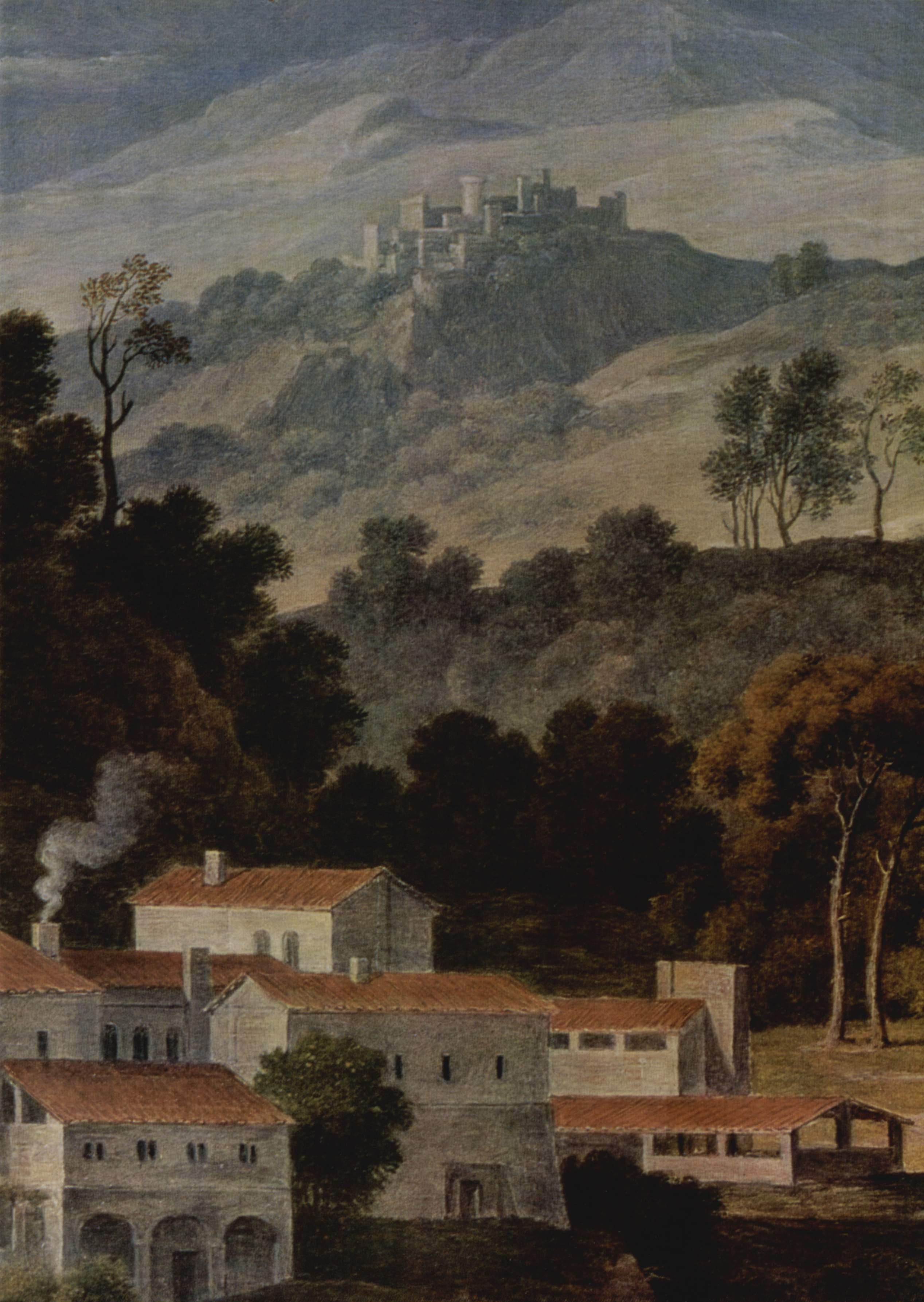 Монастырь Сан Франческо в Сабинских горах близ Рима. Фрагмент, Кох Йозеф Антон