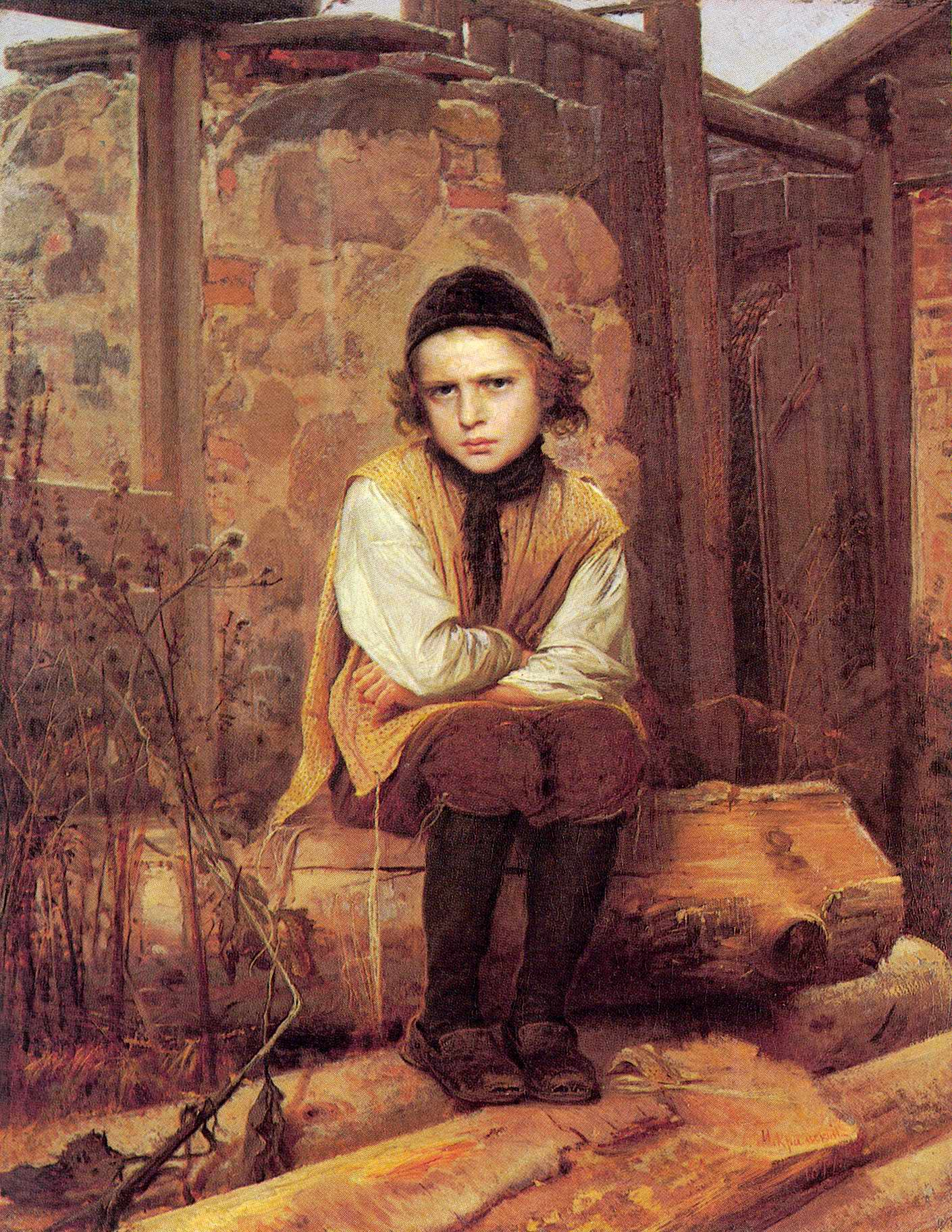 Оскорбленный еврейский мальчик, Крамской Иван Николаевич