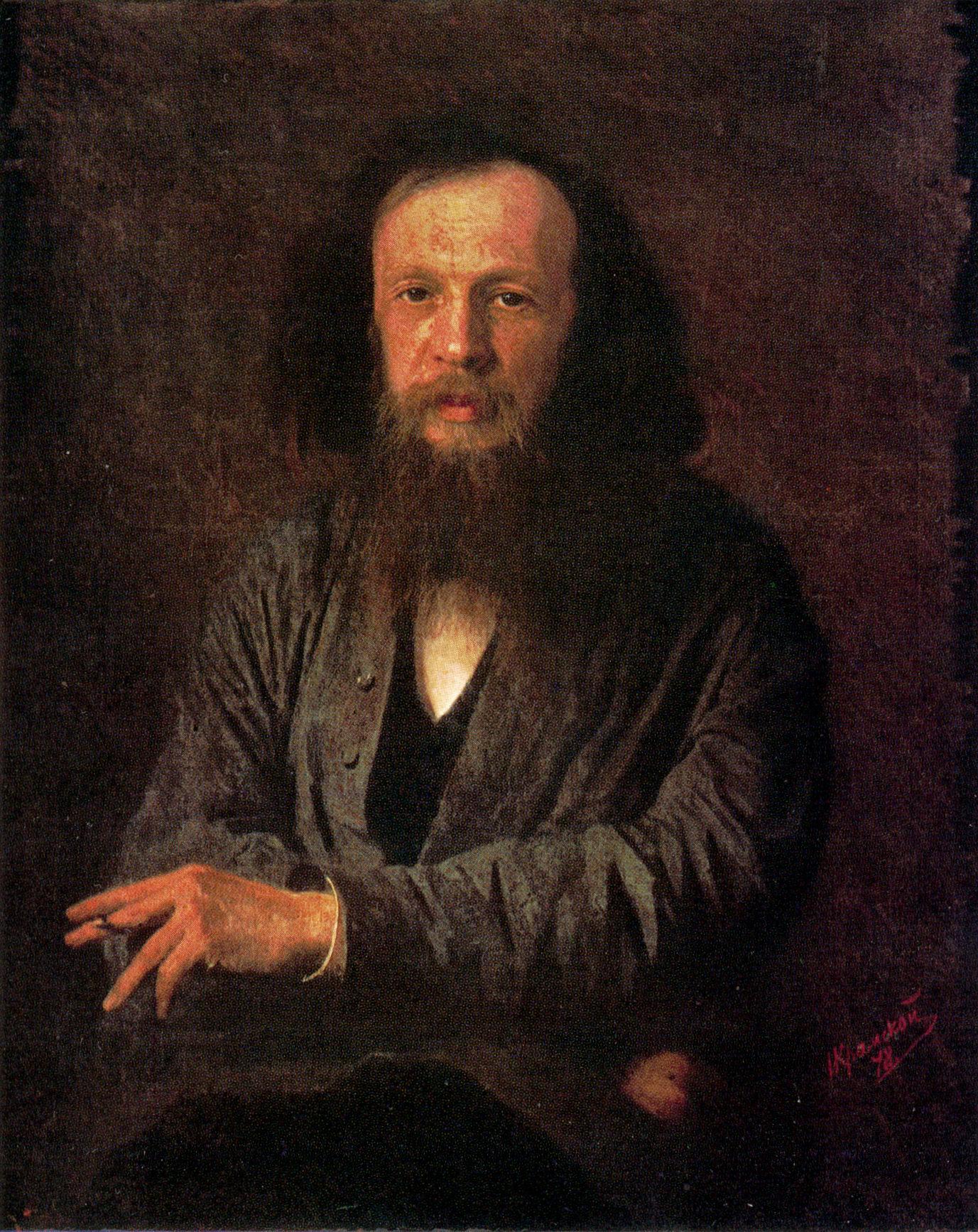 Портрет химика Дмитрия Ивановича Менделеева, Крамской Иван Николаевич