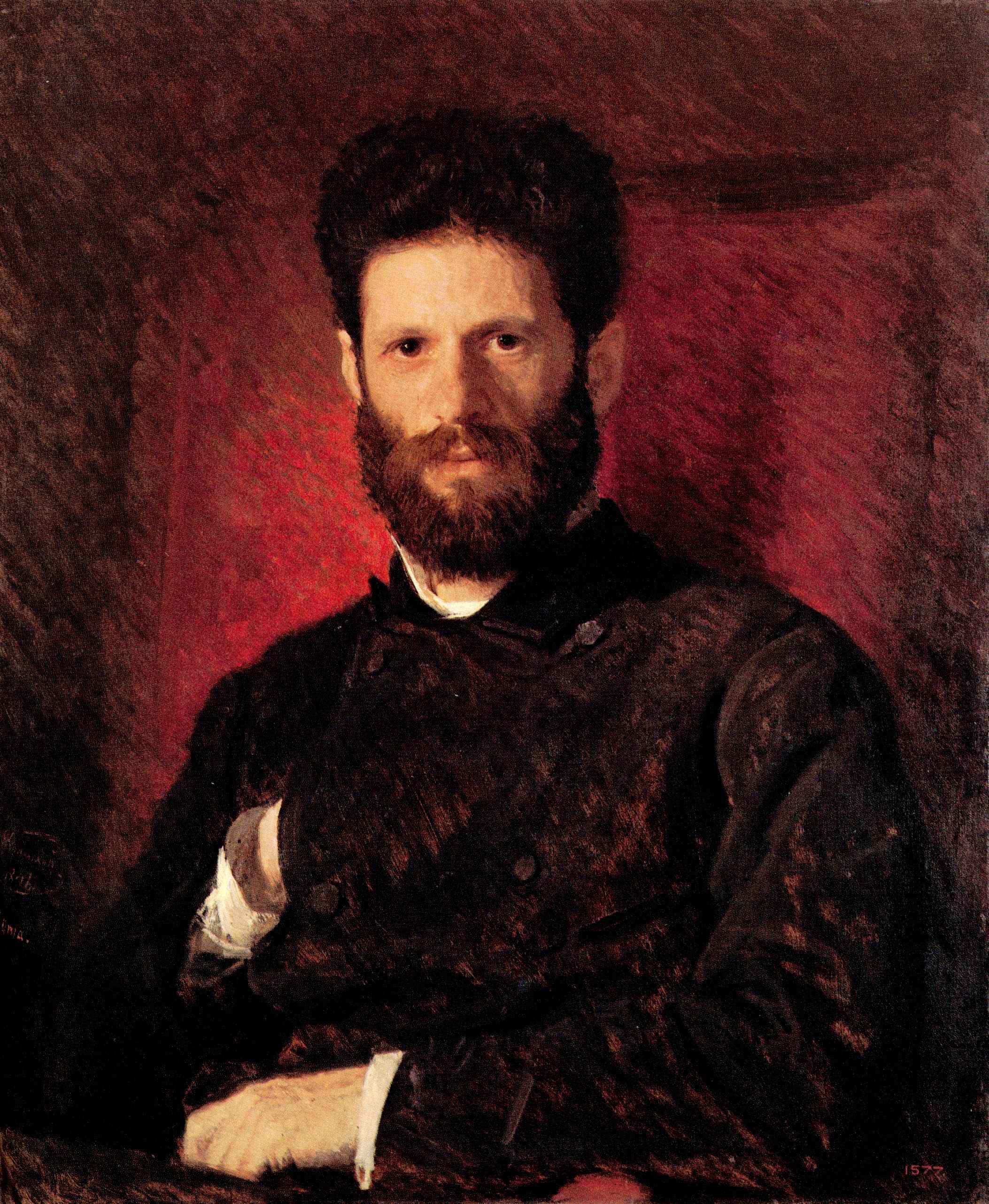 Портрет скульптора Марка Матвеевича Антокольского, Крамской Иван Николаевич