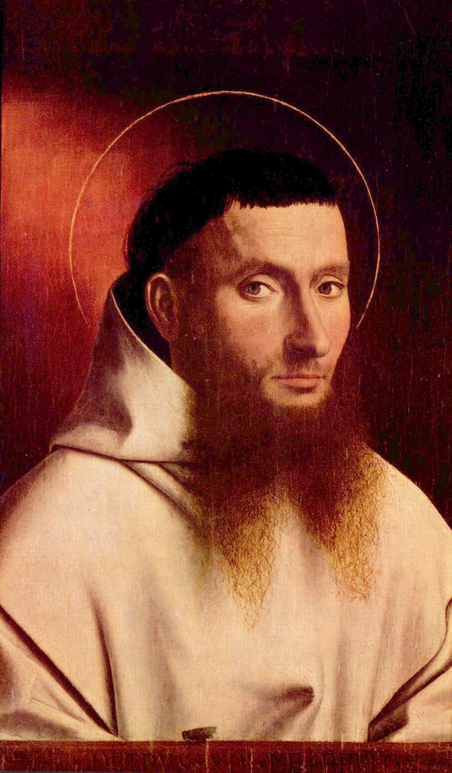 Портрет картезианского монаха, Кристус Петрус