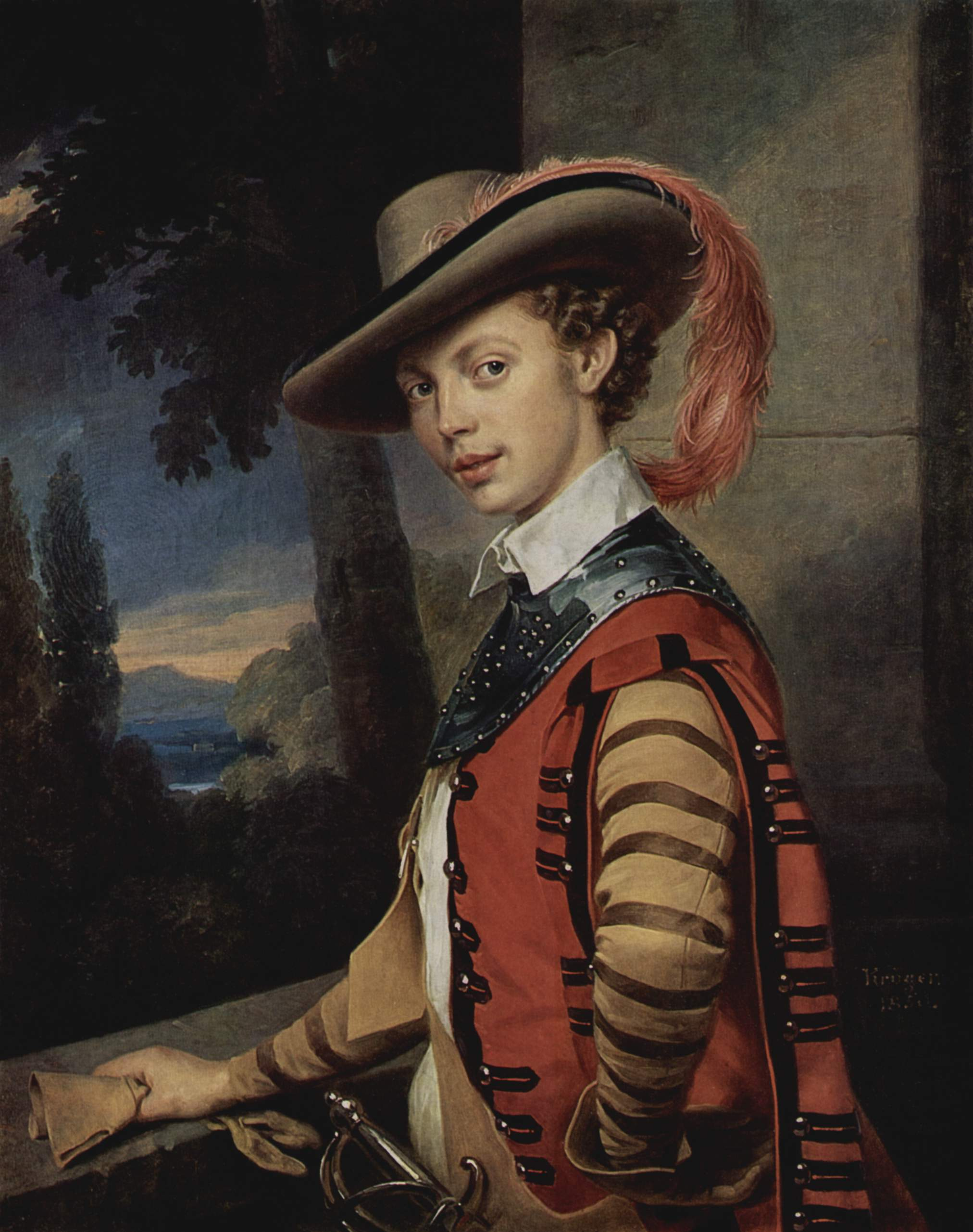 Портрет графа Николая Салтыкова в наряде для костюмированного бала, Крюгер Франц