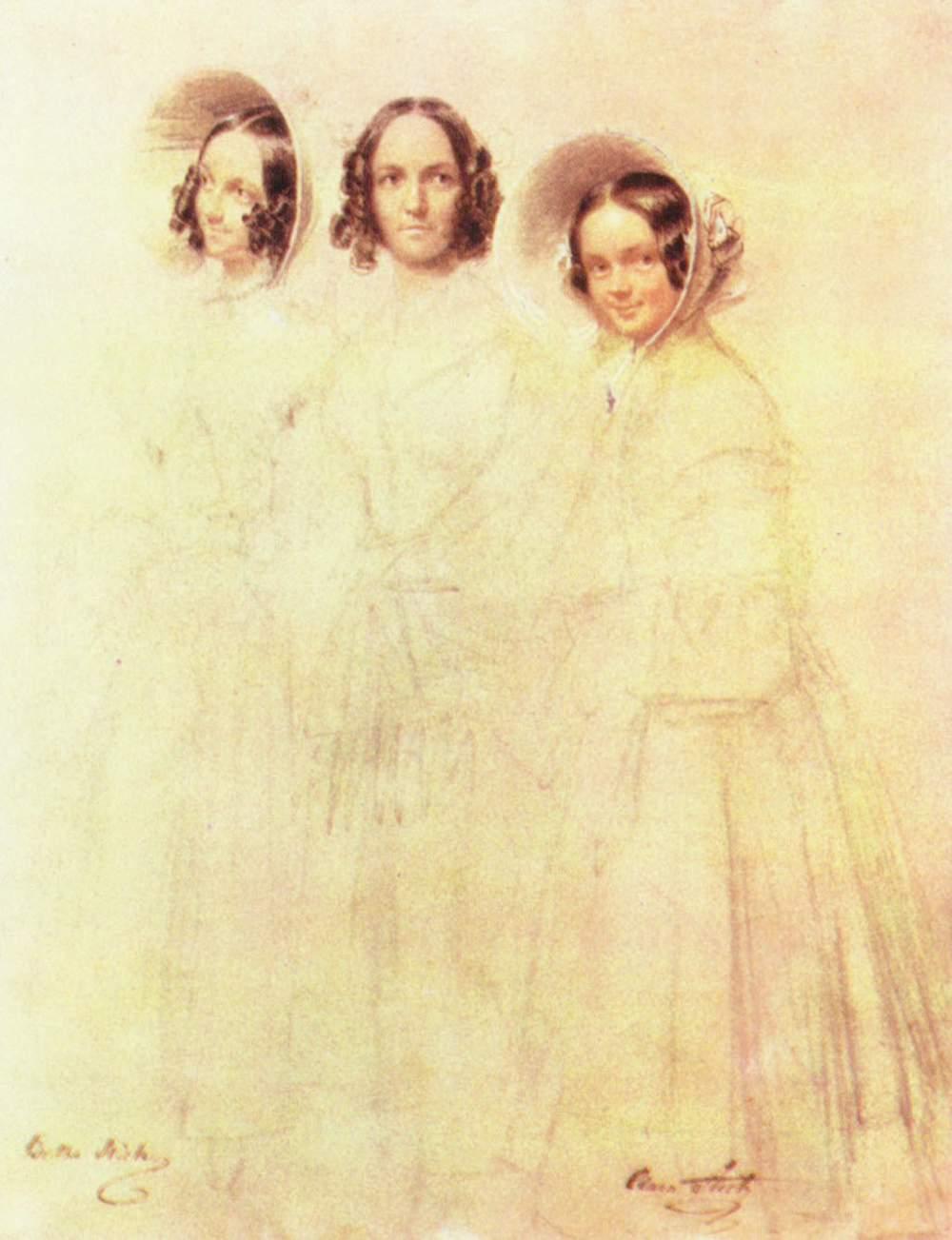 Портрет госпожи Крелингер с дочерьми Бертой и Кларой, Крюгер Франц