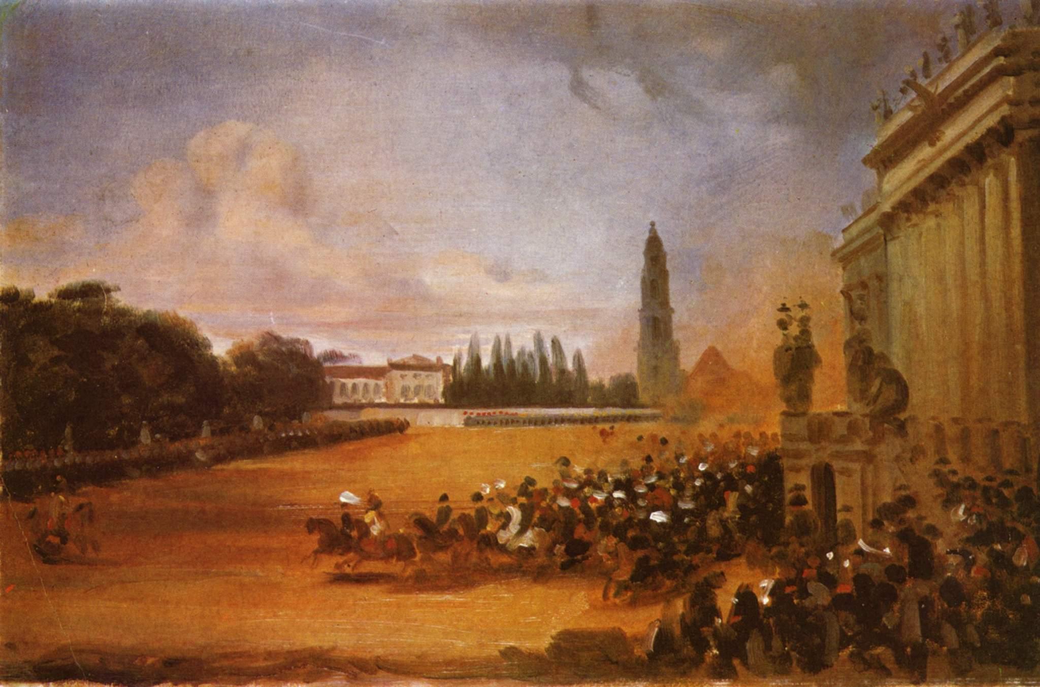 Парад в Потсдаме (этюд), Крюгер Франц
