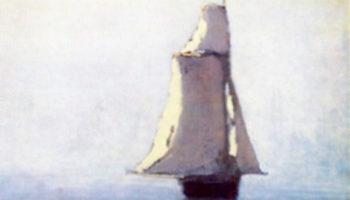 Море с парусным кораблем