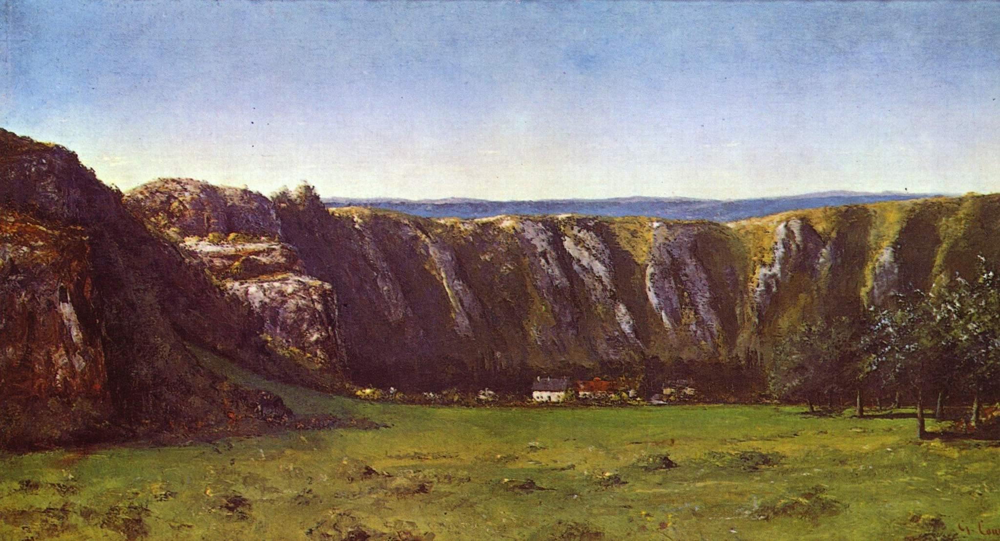 La roche de dix heures (скала у Орнана), Курбе Гюстав