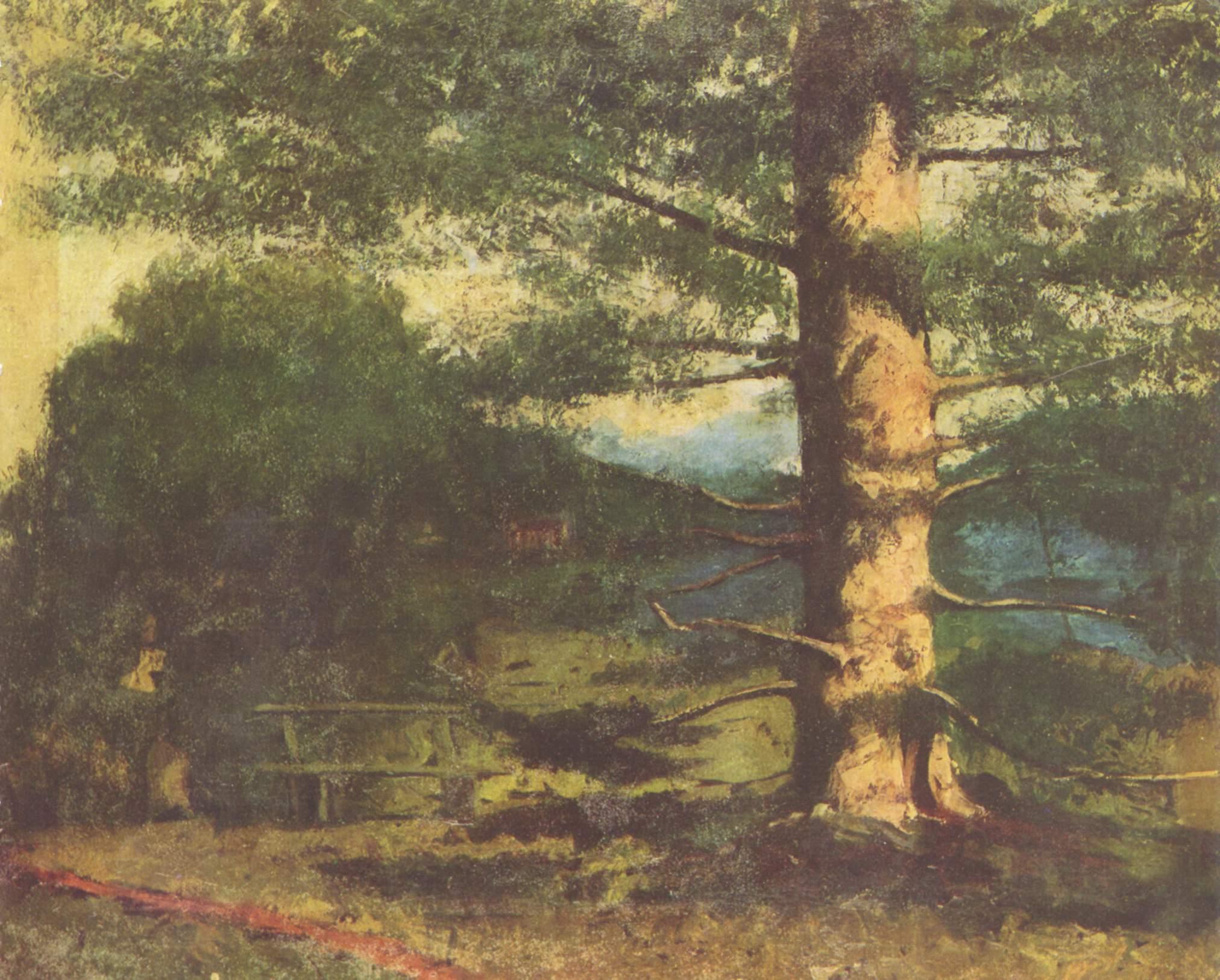 Пейзаж с деревом, Курбе Гюстав