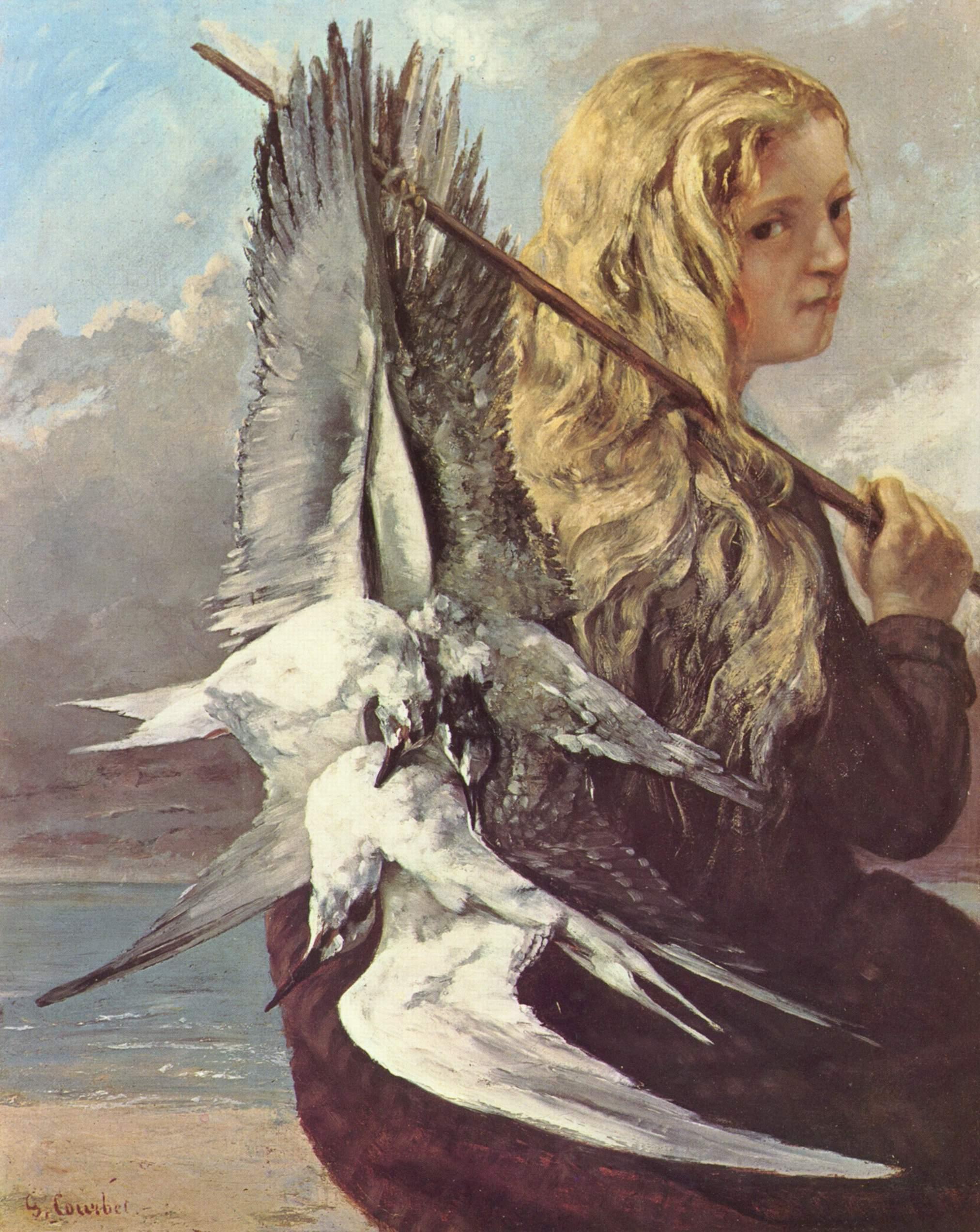 Девушка с чайками, Курбе Гюстав