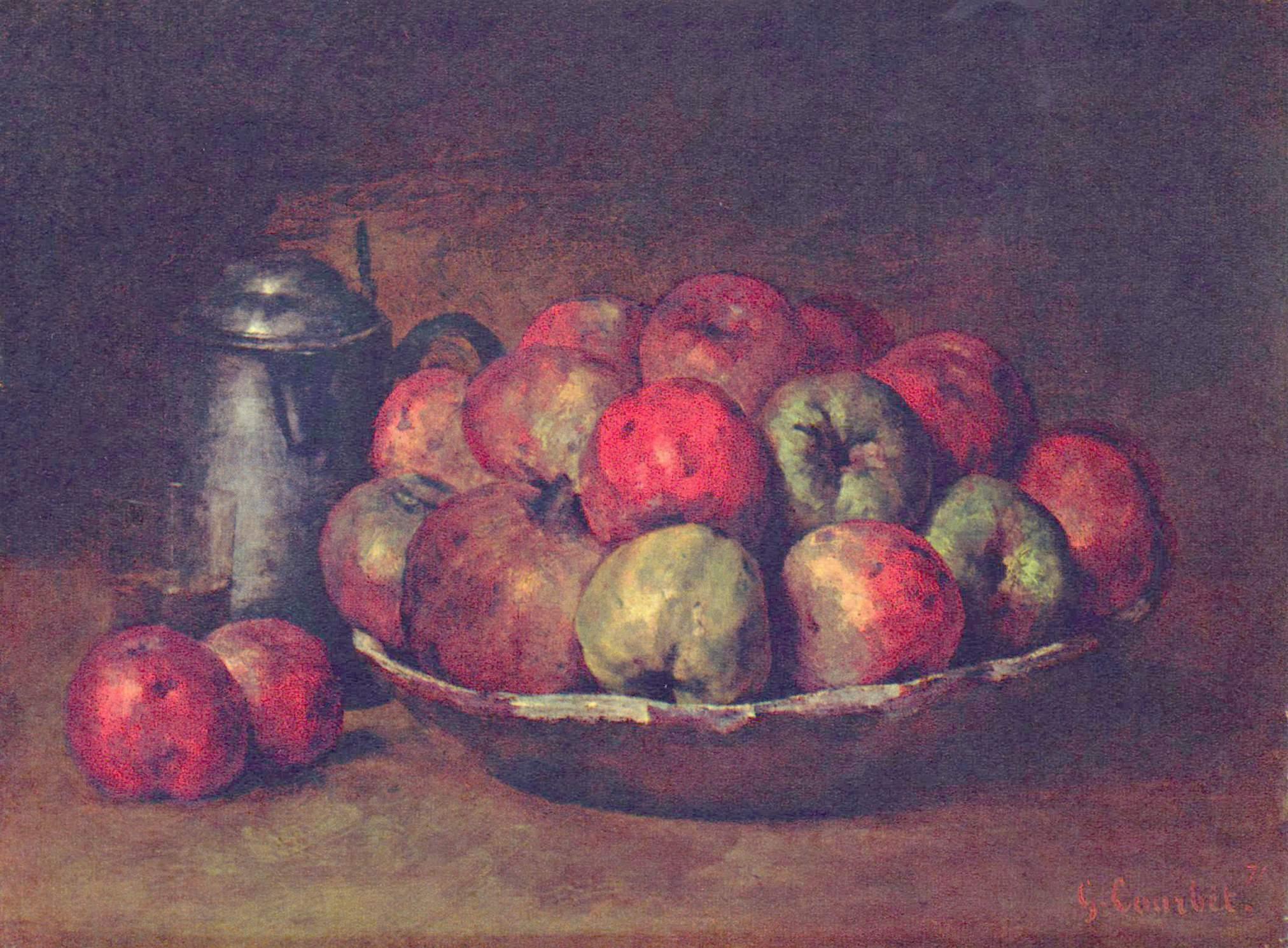 Яблоки и гранаты, Курбе Гюстав