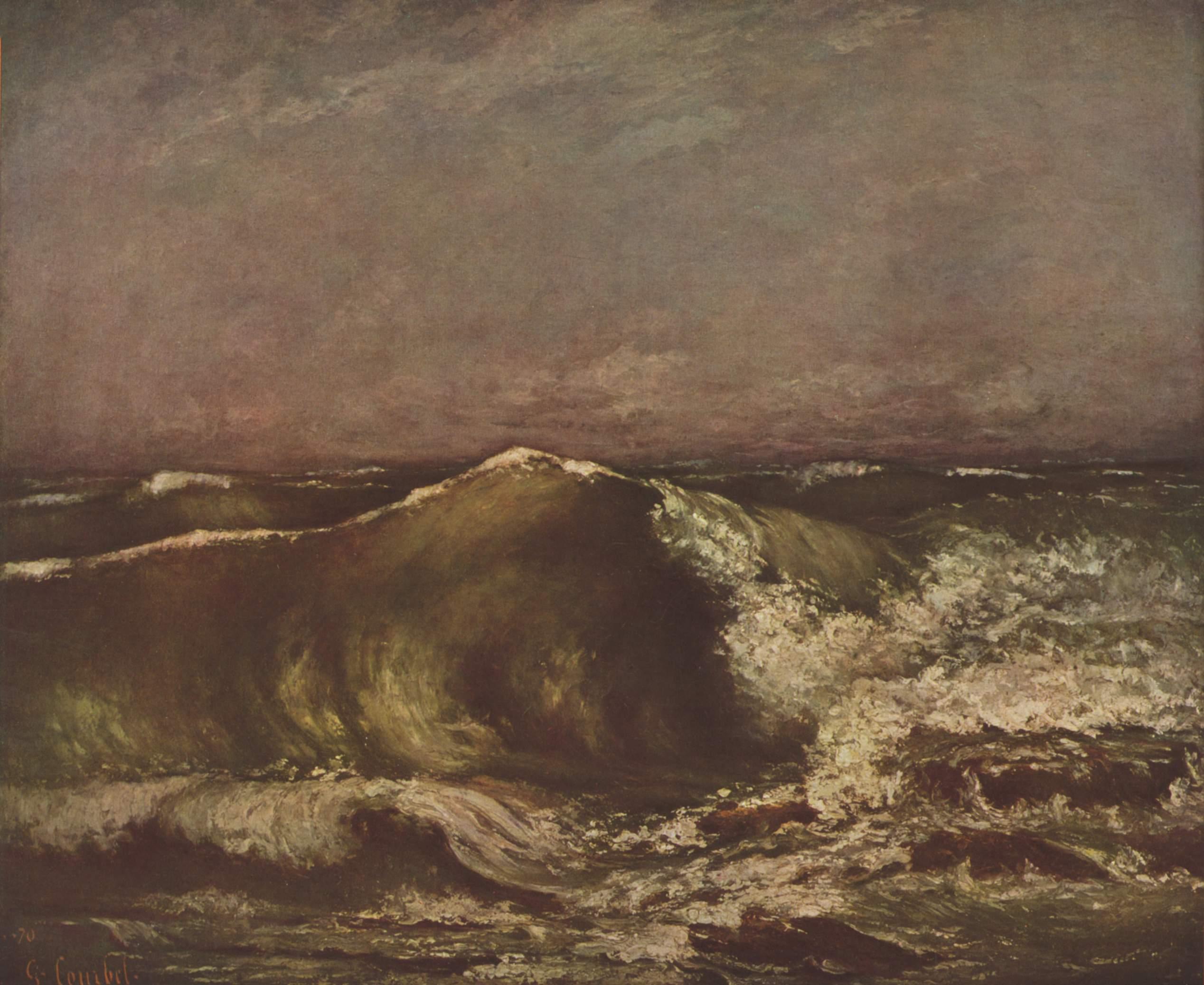 Морской вал, Курбе Гюстав