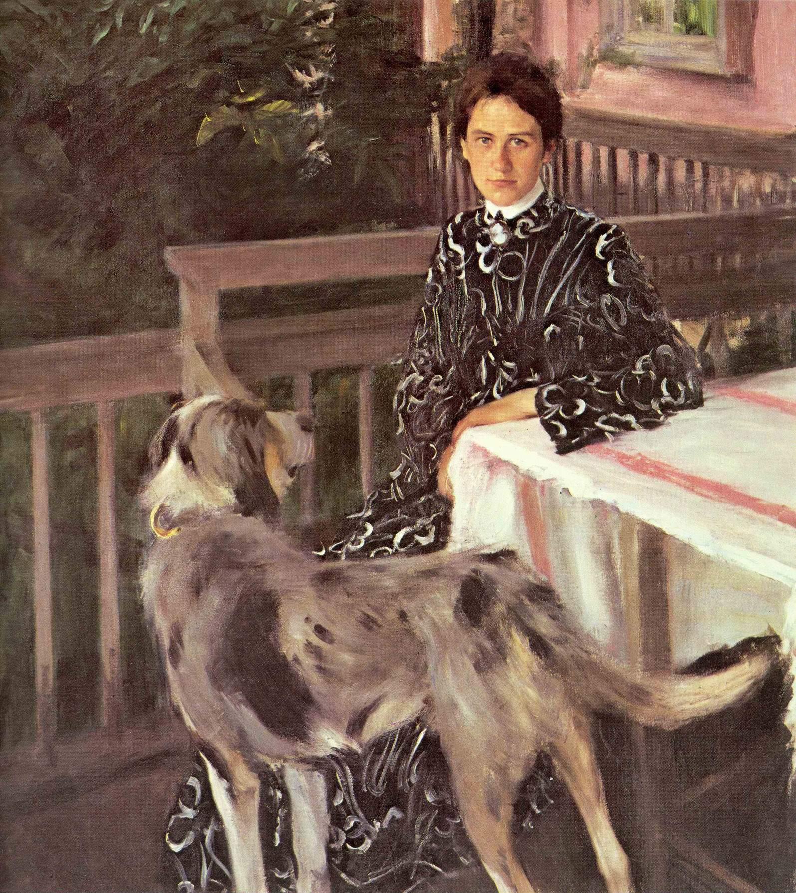 Портрет Юлии Евстафьевны Кустодиевой, Кустодиев Борис Михайлович