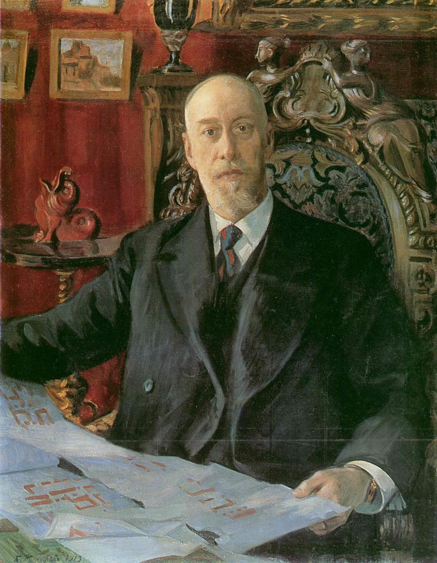 Портрет Николая Карловича фон Мекка, Кустодиев Борис Михайлович