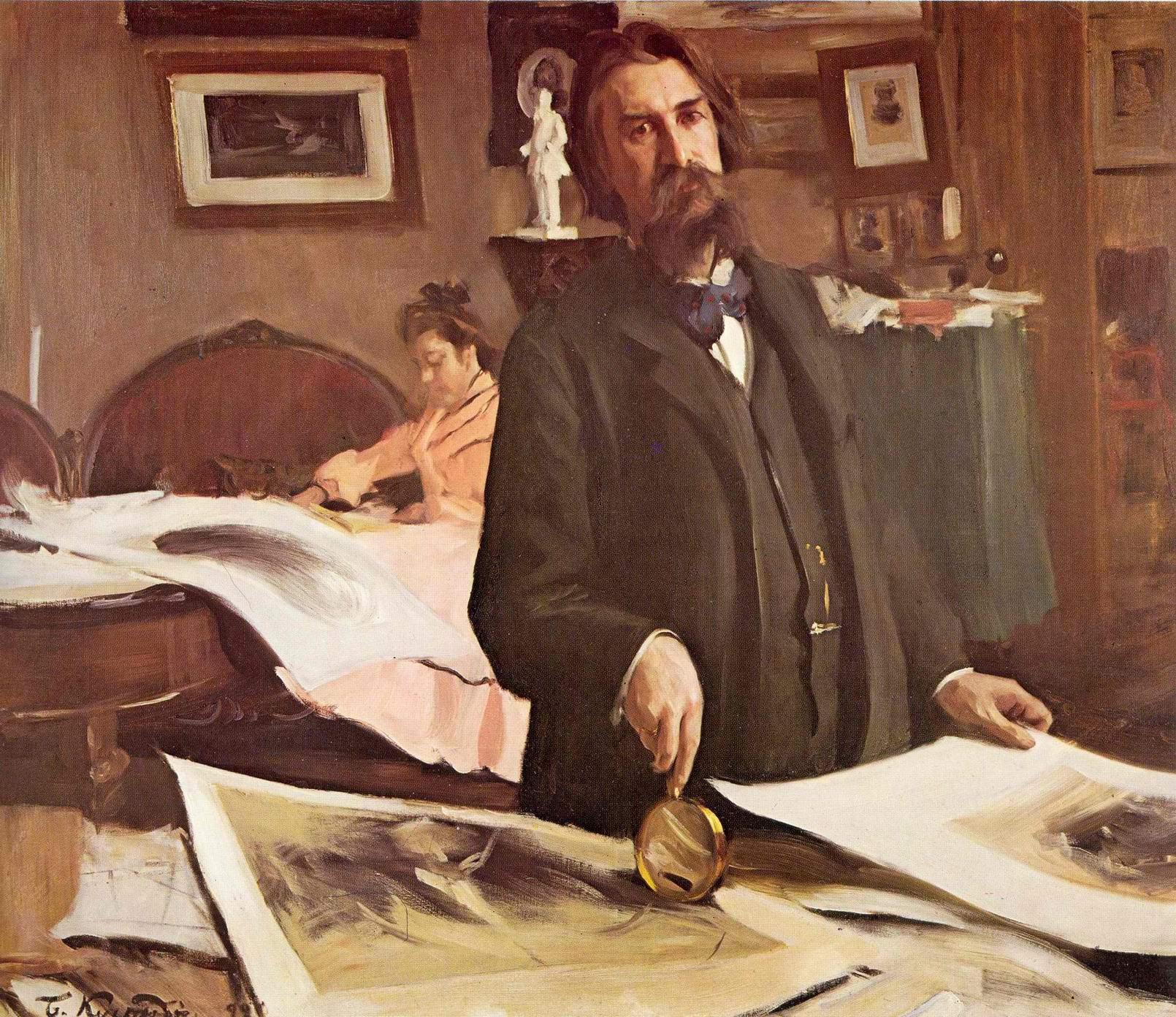 Портрет Василия Васильевича Матэ, Кустодиев Борис Михайлович