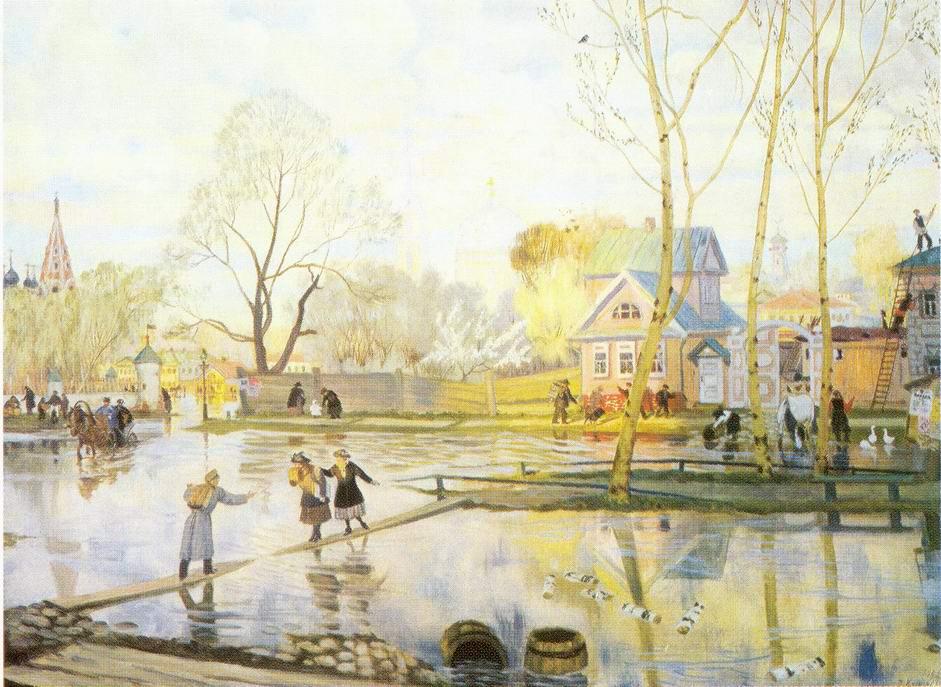 Весна, Кустодиев Борис Михайлович