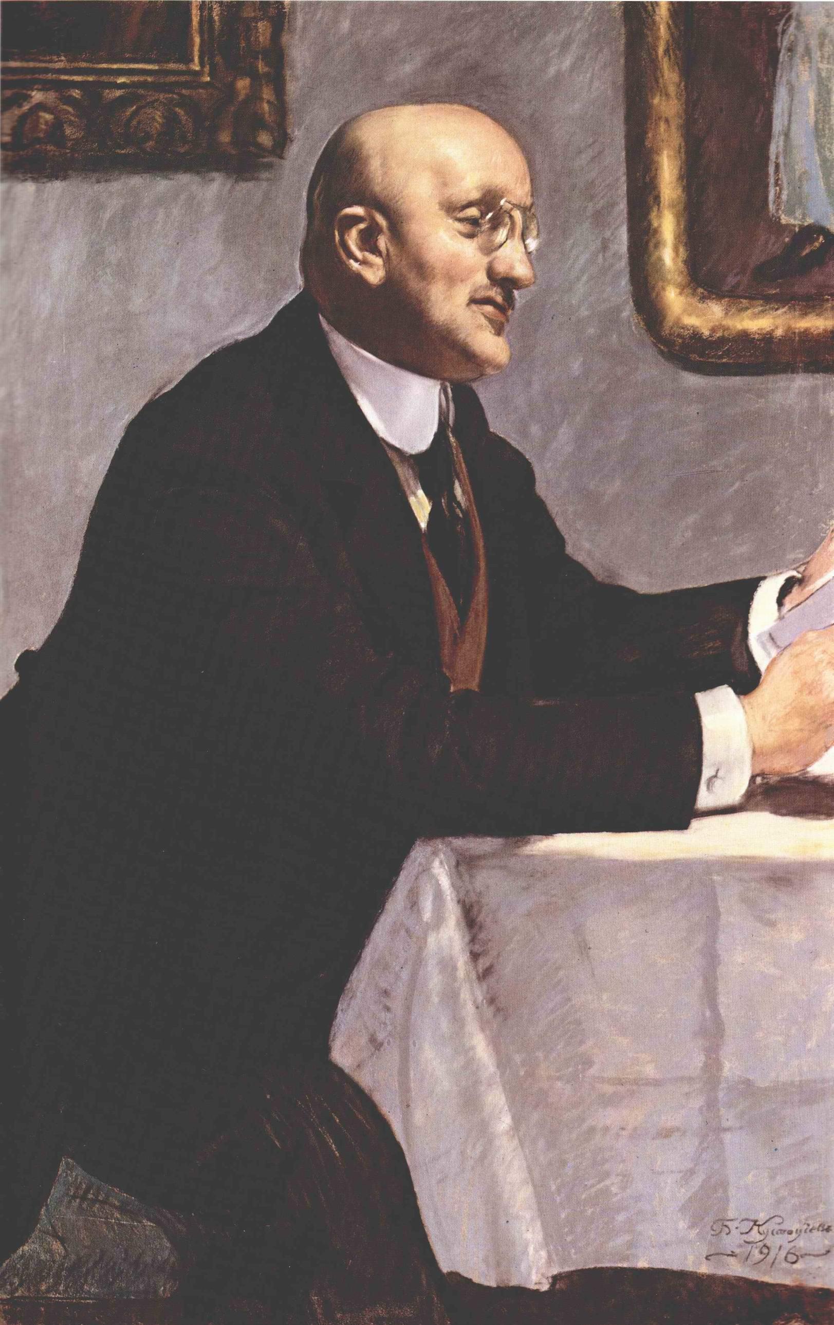 Портрет Игоря Эммануиловича Грабаря, Кустодиев Борис Михайлович