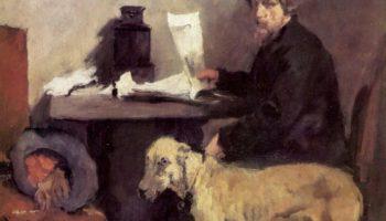 Портрет художника Заттлера с его догом