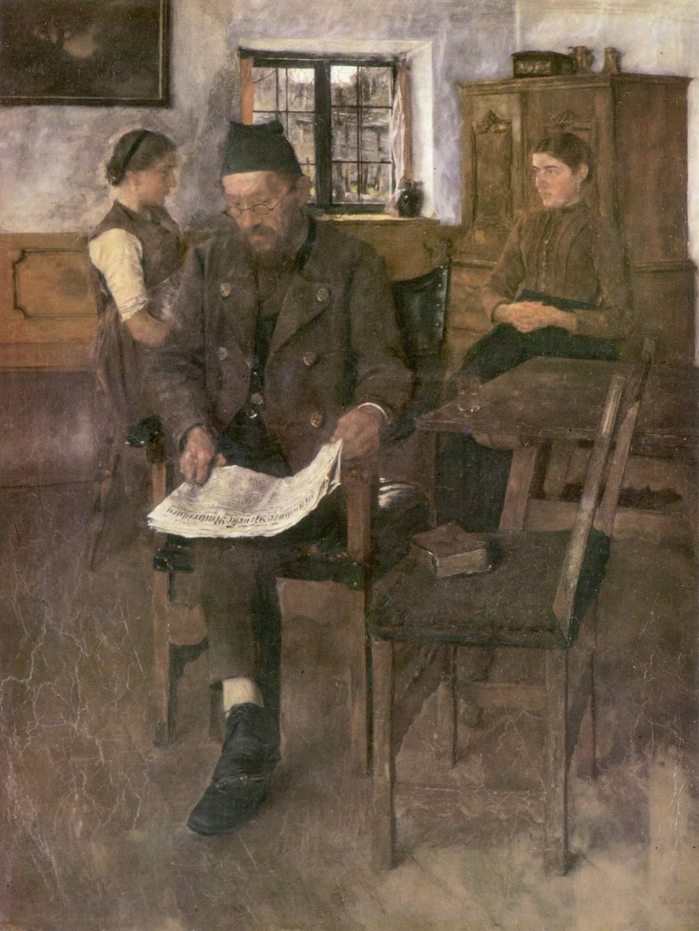 Читатель газет, Лейбль Вильгельм Мария Хубертус
