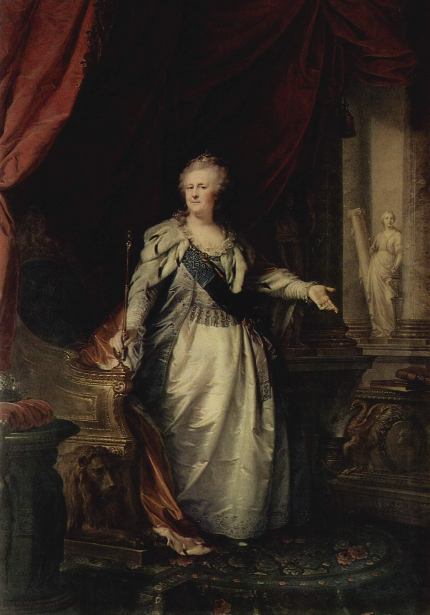 Портрет императрицы Екатерины II, Лампи Иоганн Баптист Старший