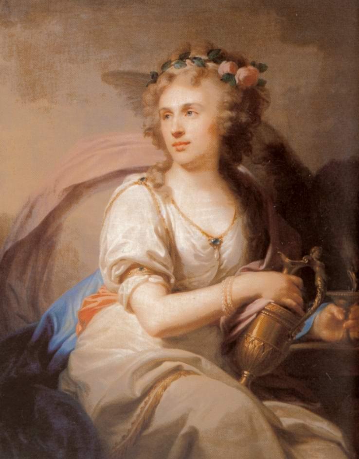 Портрет княгини Е.Ф. Долгорукой в виде Гебы, кормящей орла, Лампи Иоганн Баптист Старший