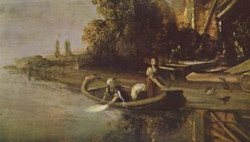 Ангел и Товия с рыбой. Фрагмент