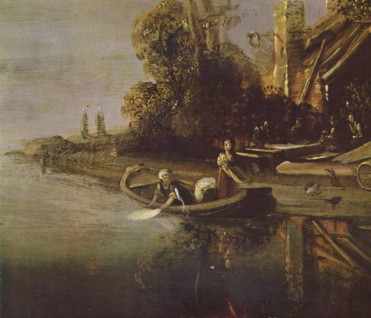 Ангел и Товия с рыбой. Фрагмент, Ластман Питер Питерс