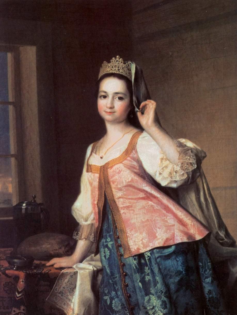 Портрет Агафьи Дмитриевны (Агаши) Левицкой, дочери художника, Левицкий Дмитрий Григорьевич
