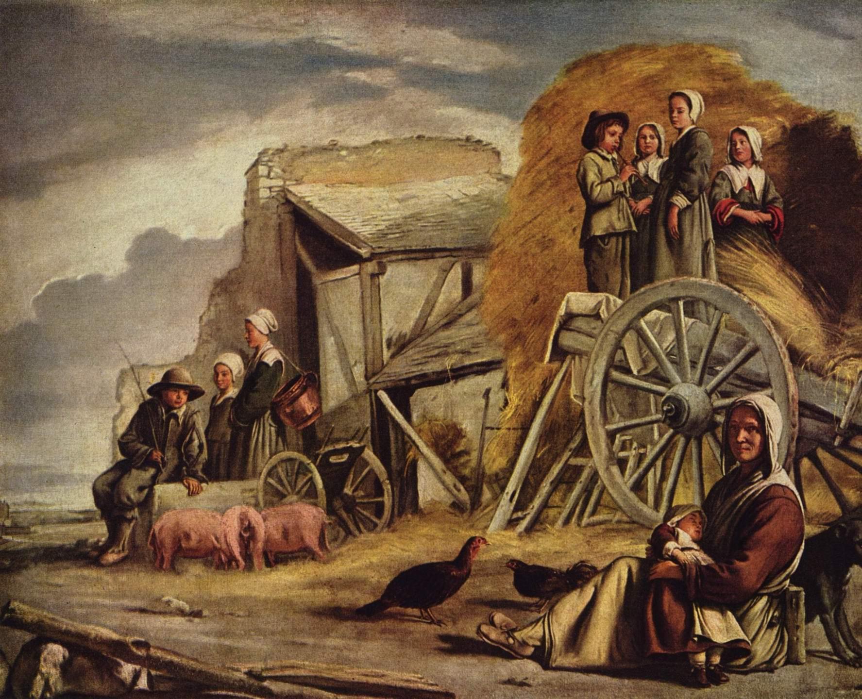 Крестьянская телега (также Повозка, Возвращение с сенокоса), Ленен Луи