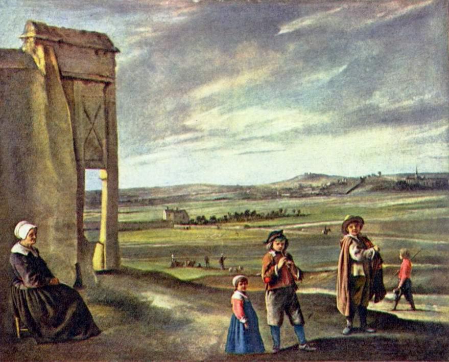 Пейзаж с крестьянами, Ленен Луи