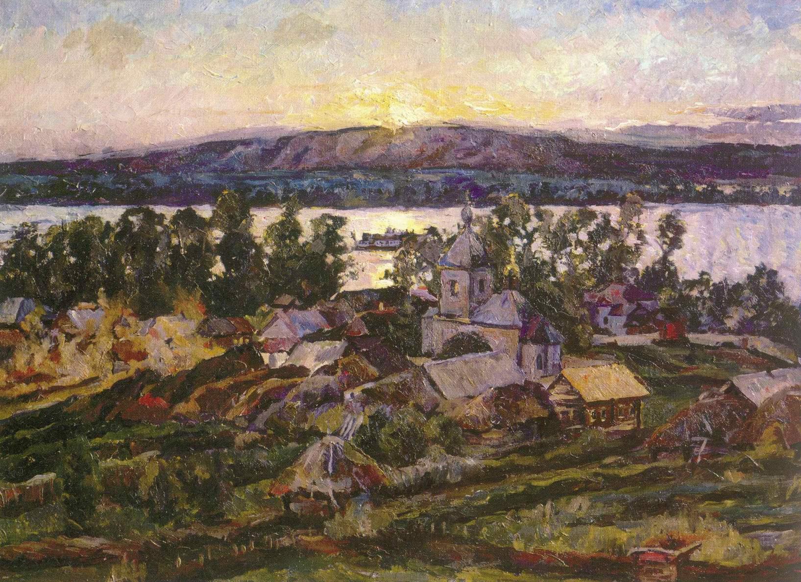 Закат на Волге, Лентулов Аристарх Васильевич