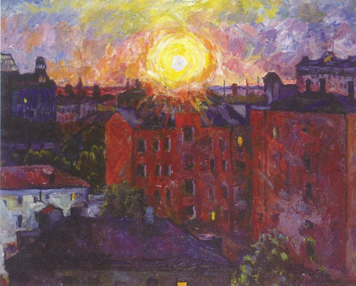 Солнце над крышами. Закат, Лентулов Аристарх Васильевич
