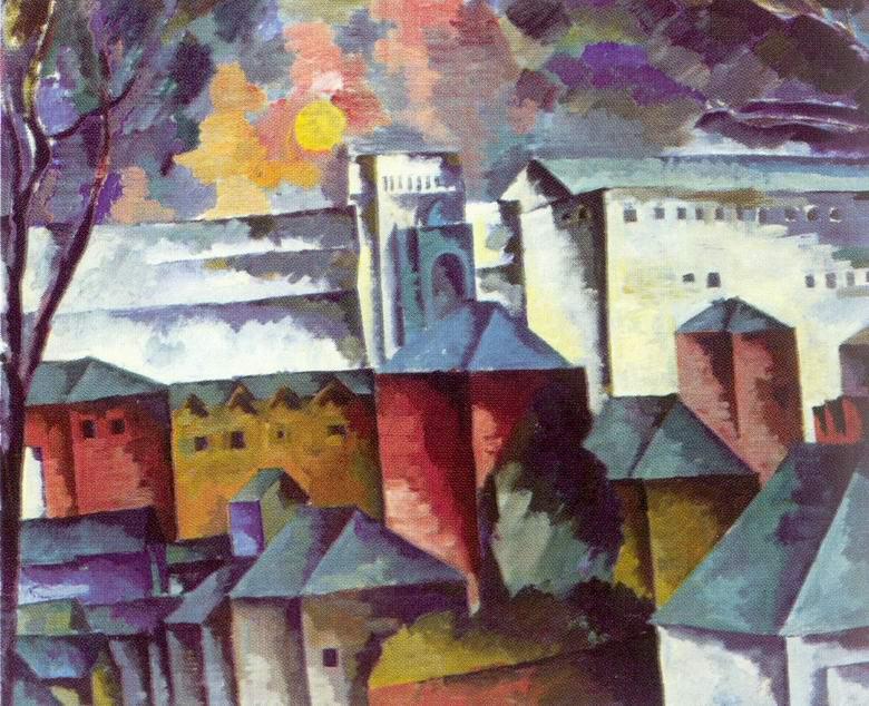 Пейзаж с монастырской стеной, Лентулов Аристарх Васильевич