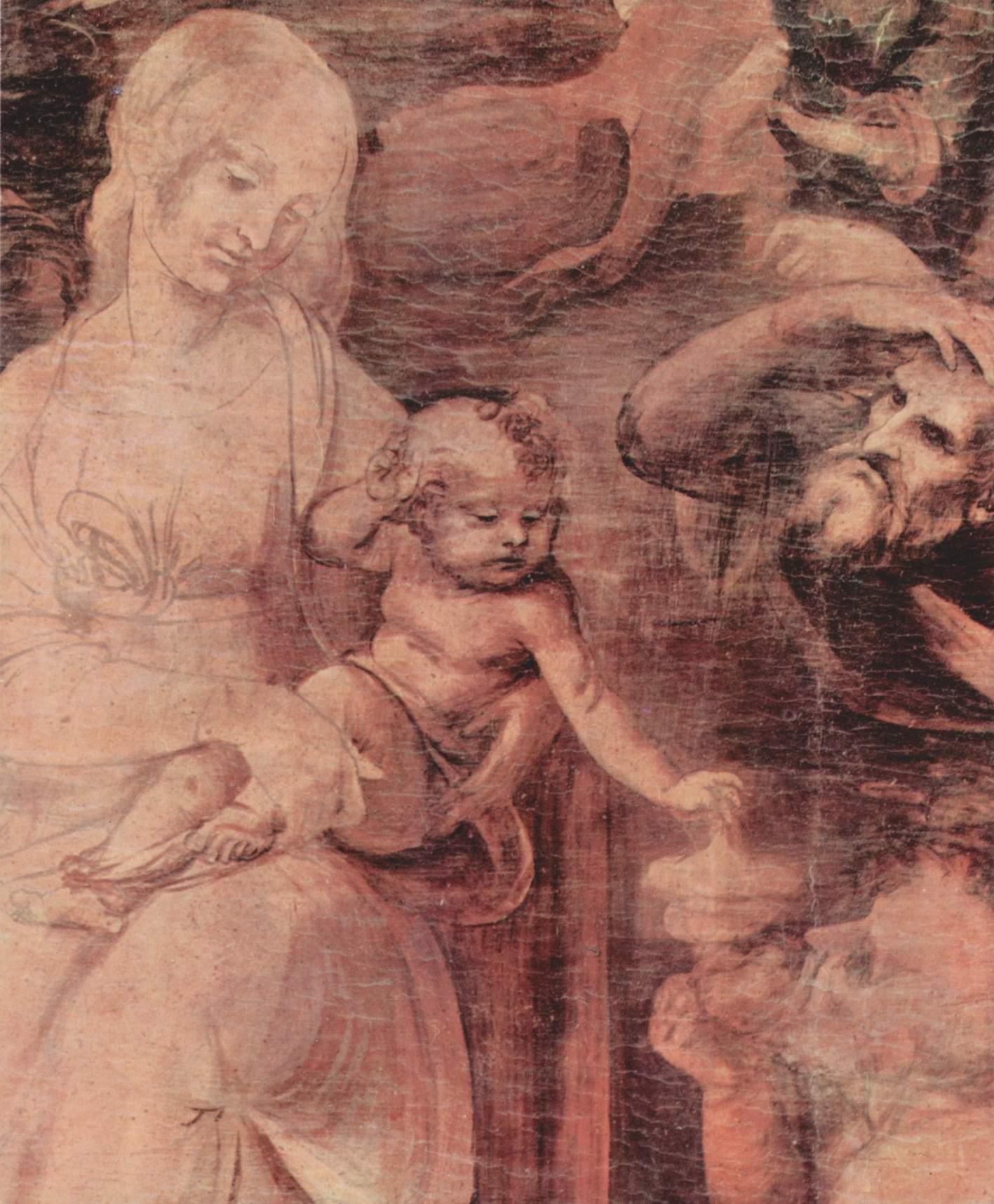 Поклонение волхвов. Фрагмент, Леонардо да Винчи