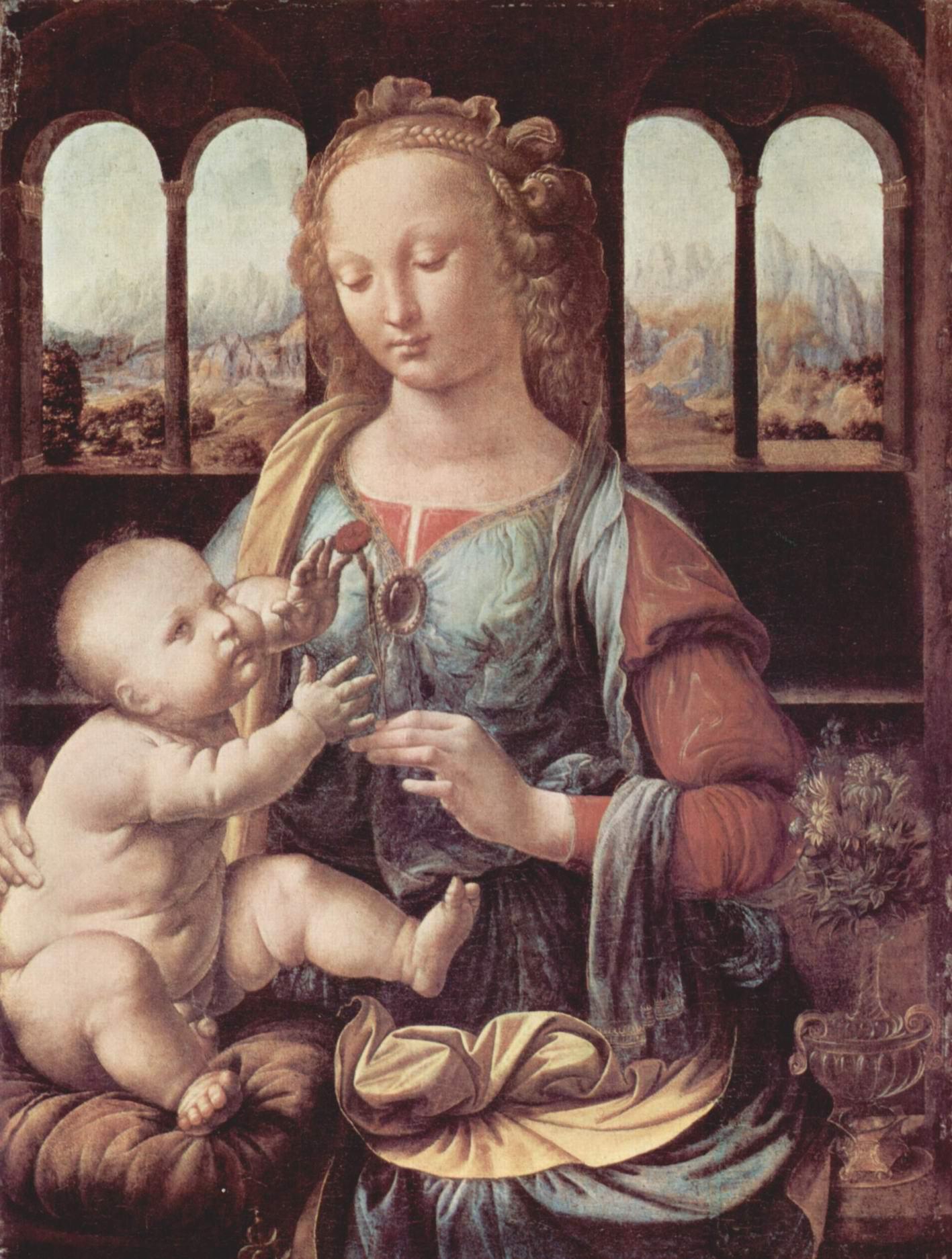 Мадонна с гвоздикой, Леонардо да Винчи