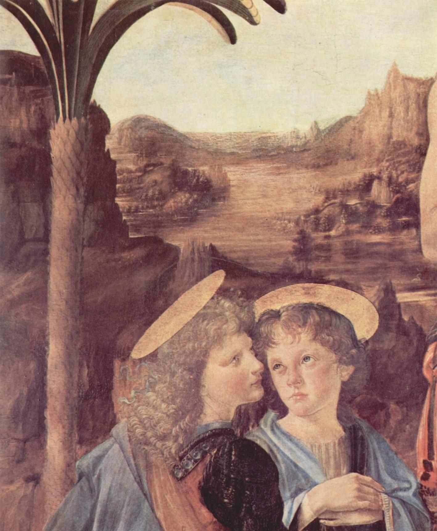 Крещение Христа. Фрагмент, Леонардо да Винчи