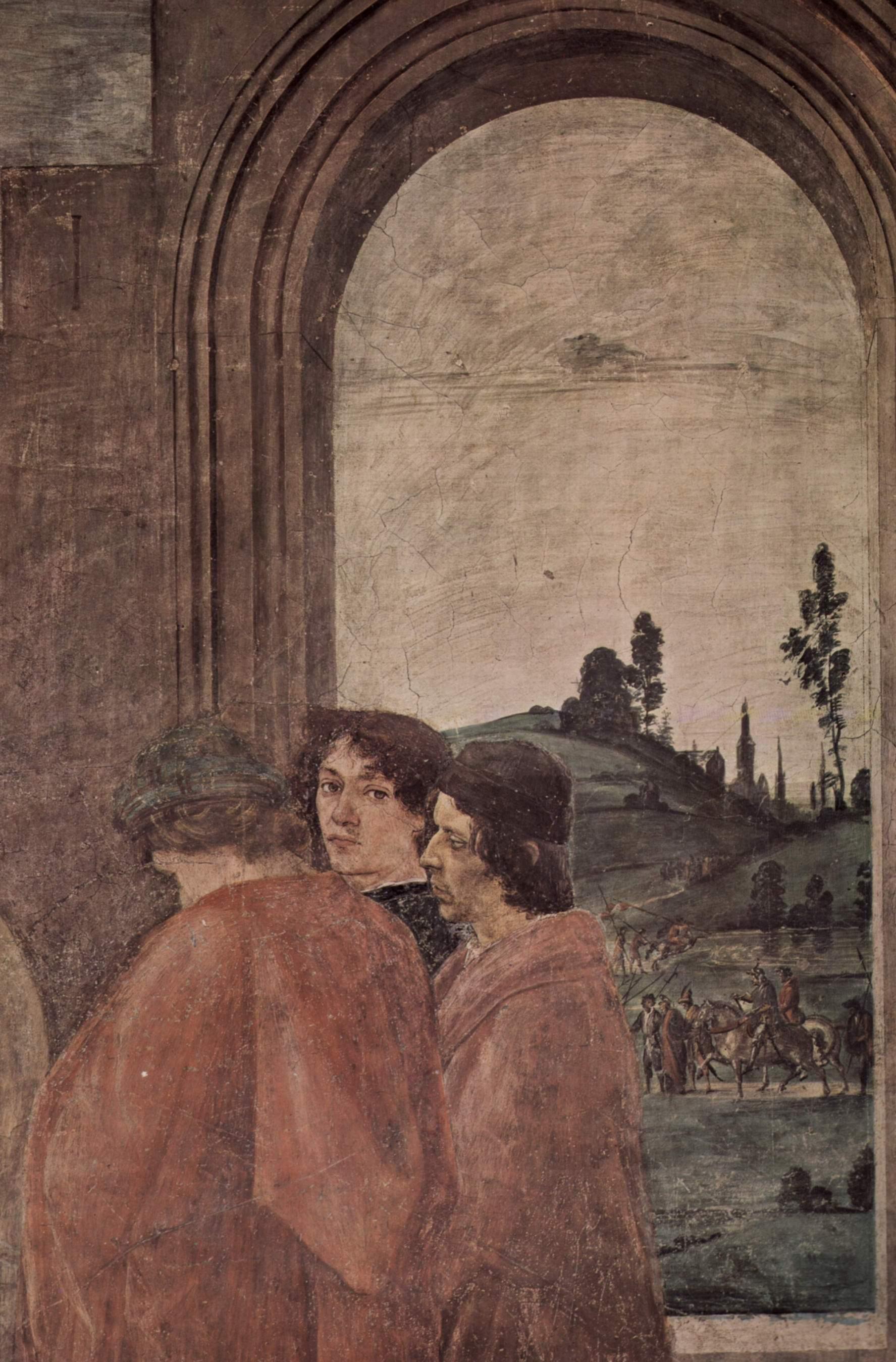 Цикл фресок в капелле Бранкаччи в Санта Мария дель Кармине (Флоренция). Мученичество апостола Петра. Фрагмент, Липпи Филиппино