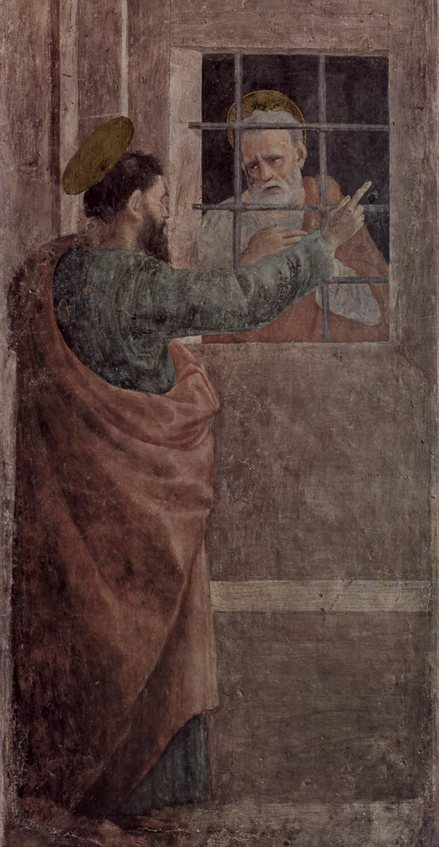 Цикл фресок в капелле Бранкаччи в Санта Мария дель Кармине (Флоренция). Павел навещает Петра в темнице, Липпи Филиппино