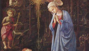 Поклонение младенцу со св. Бернардом