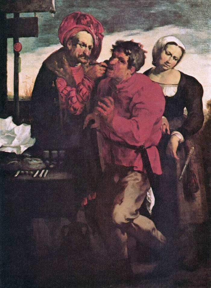 Крестьянин у зубодера, Лисс Иоганн